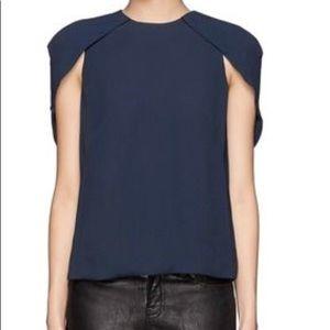 J brand Georgette Cowley cape cap sleeve blouse